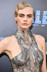 CARA DELEVINGNE at Valerian and the City of a Thousand Planet Premiere in Hollywood 07/17/2017