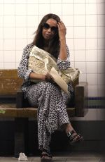 IMAN at a Train Station in New York 07/19/2017