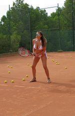 IMOGEN THOMAS in Bikini Playing Tennis in London 07/06/2017