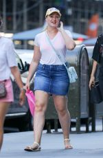 ISKRA LAWRENCE Out and About in New York 07/09/2017