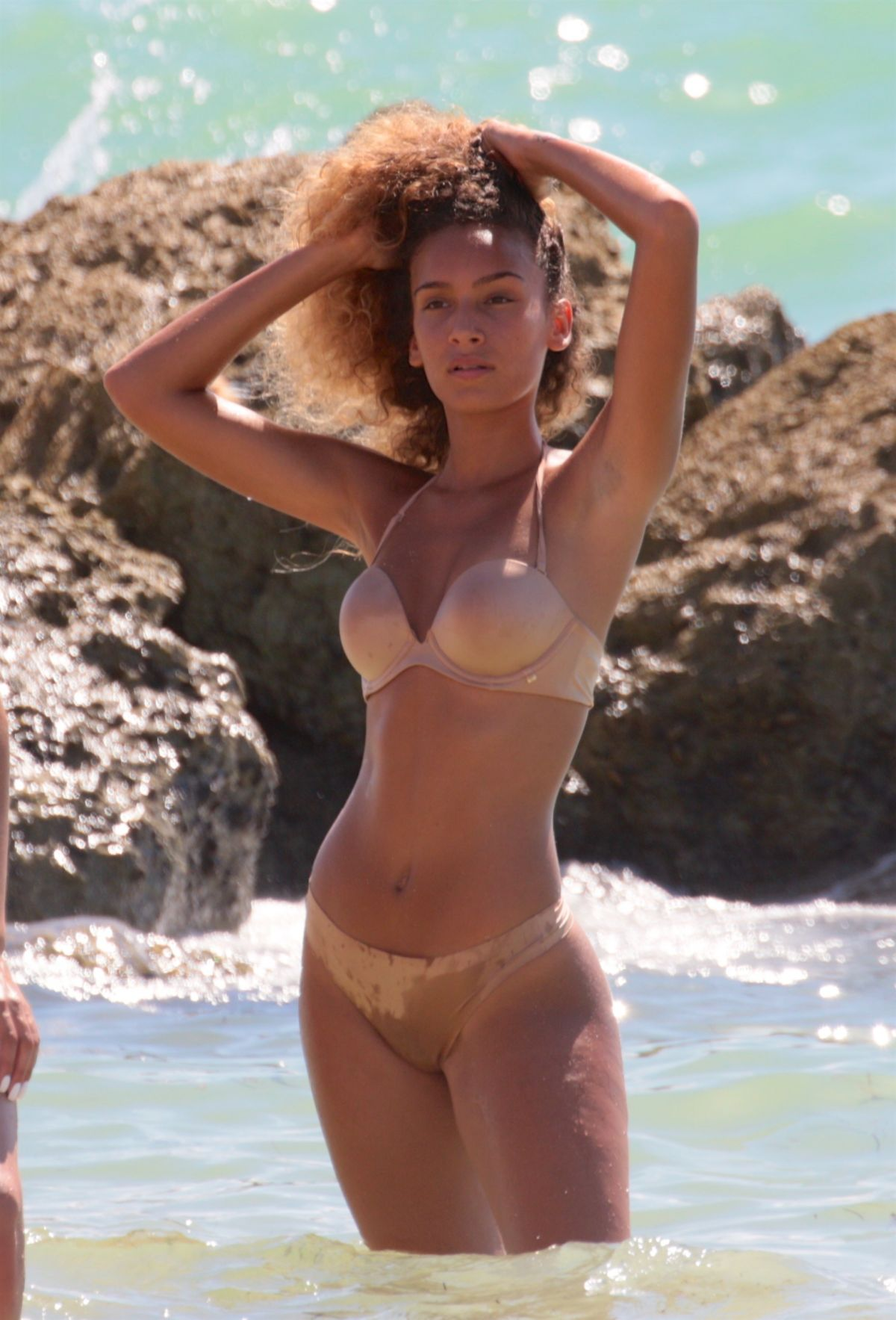 J LYNNE in Bikini at a Beach in Miami 07/23/2017