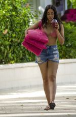 JADE ALLEYNE Heading to a Beach in Barbados 07/06/2017