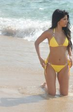 JASMIN WALIA in Bikini on the Boeach in Ibiza 07/05/2017