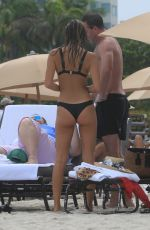 JEHANE GIGI PARIS in Bikini at a Beach in Miami 07/22/2017