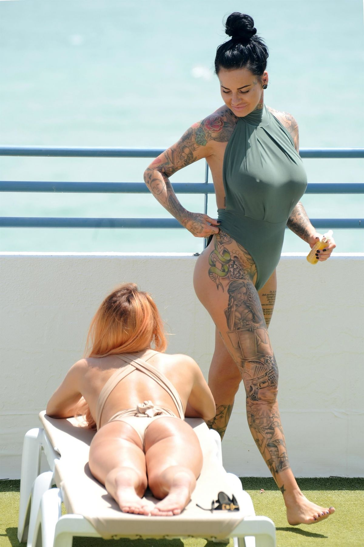 JEMMA LUCY and ZARALENA JACKSO in Swimsuits on Vacation in Portugal 07/18/2017