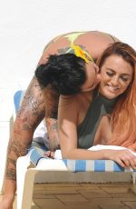 JEMMA LUCY and ZARALENA JACKSON in Bikinis at a Pool in Portugal 07/21/2017