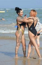JEMMA LUCY and ZARALENA JACKSON on the Beach in Spain 07/06/2017