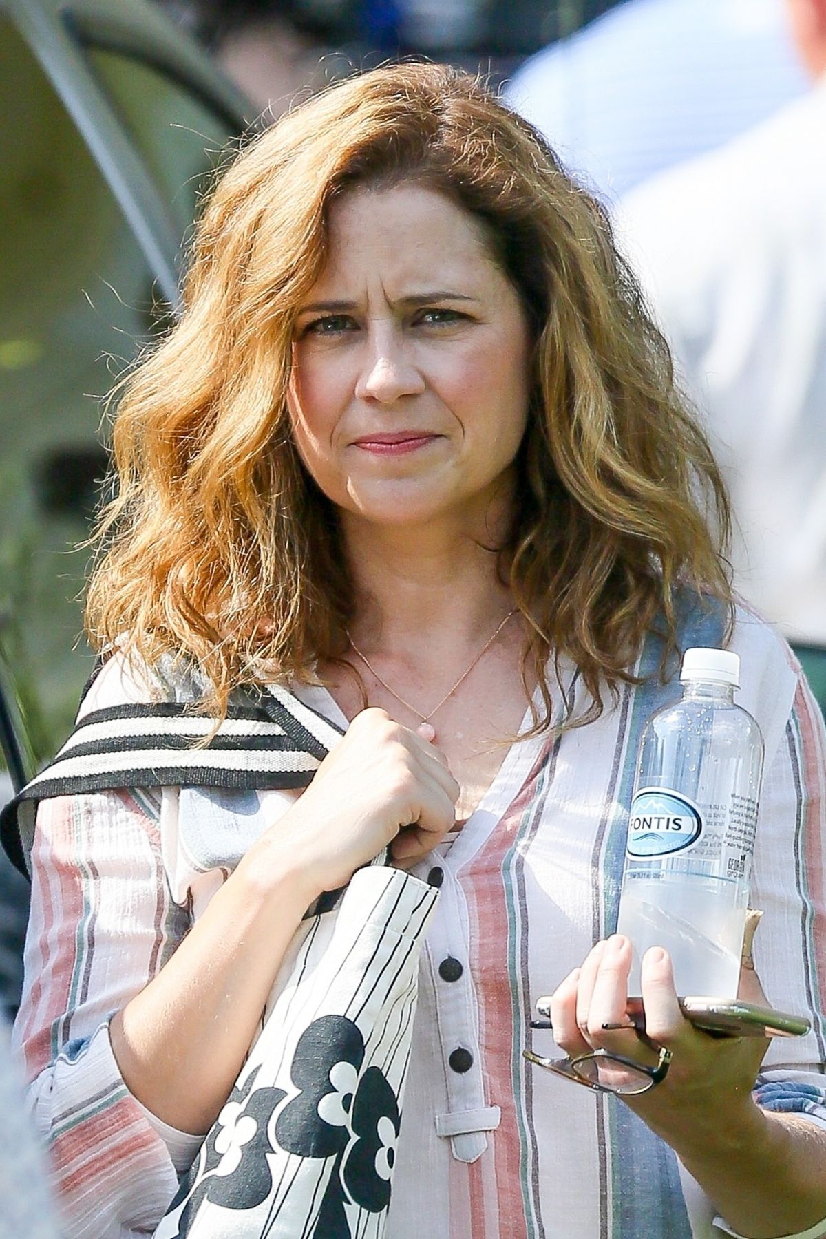 JENNA FISCHER on the Set of 15:17 to Paris in Atlanta 07/26/2017