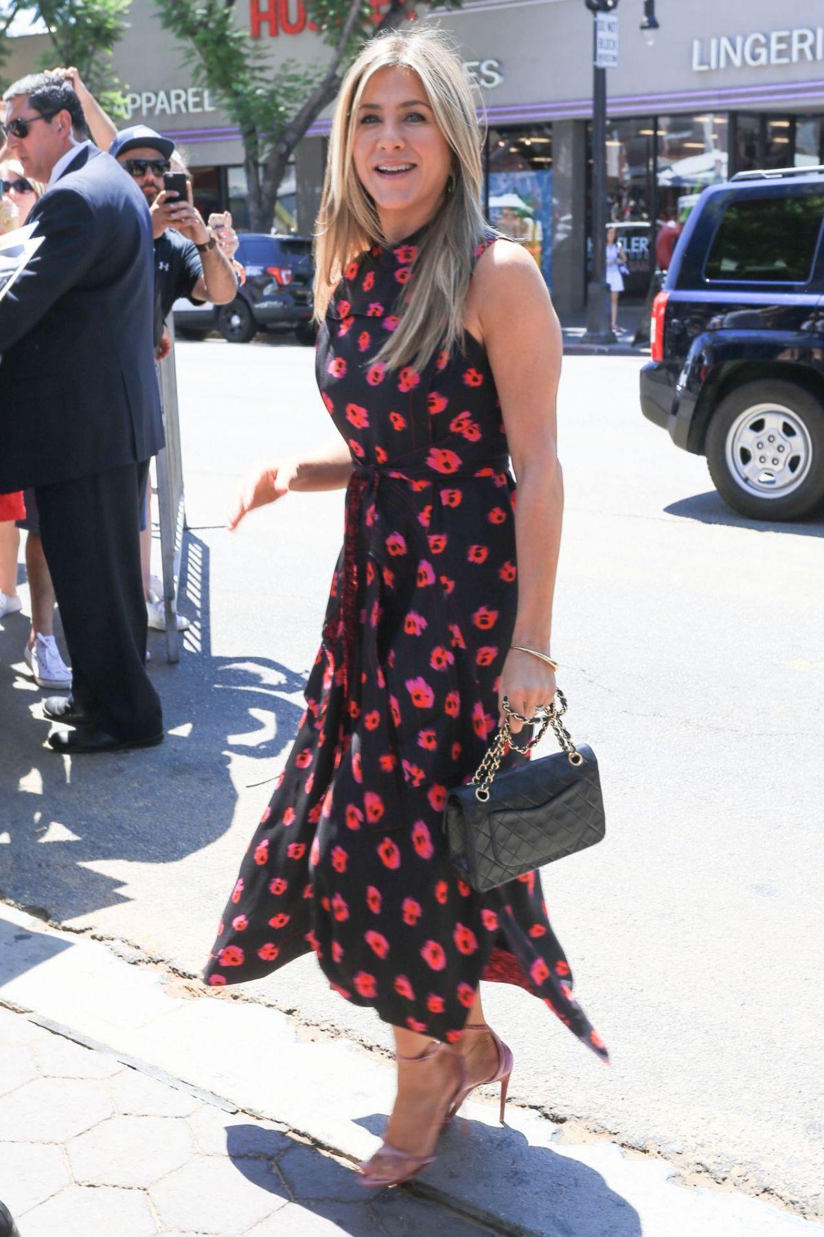 JENNIFER ANISTON at Jason Bateman's Hollywood Star Ceremony in Hollywood 07/26/2017