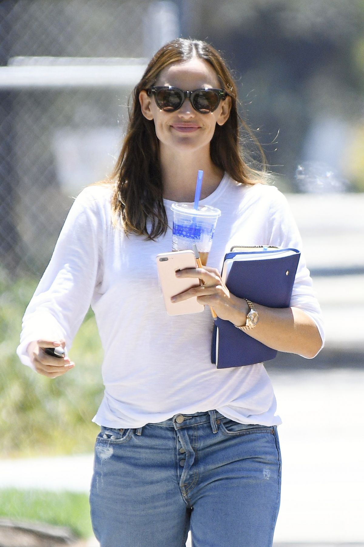 JENNIFER GARNER Out for Business Meeting in Los Angeles 07/19/2017