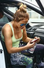 JENNIFER LOPEZ Arrives at a Gym in New York 07/24/2017