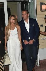 JENNIFER LOPEZ at Prime 112 Restaurant in Miami 07/24/2017