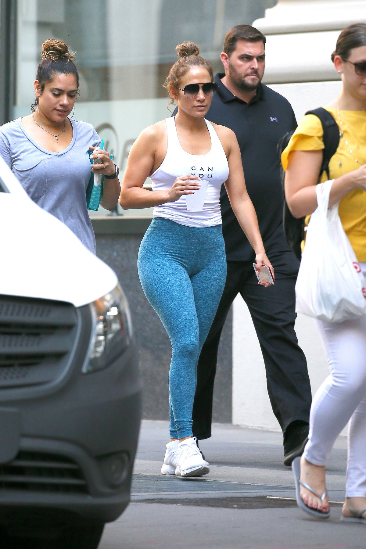 JENNIFER LOPEZ Leaves a Gym in New York 07/21/2017