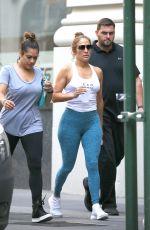 JENNIFER LOPEZ Leaves a Gym in New York 07/21/2017