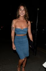 JENNY THOMPSON Leaves San Carlo Restaurant in Manchester 07/08/2017
