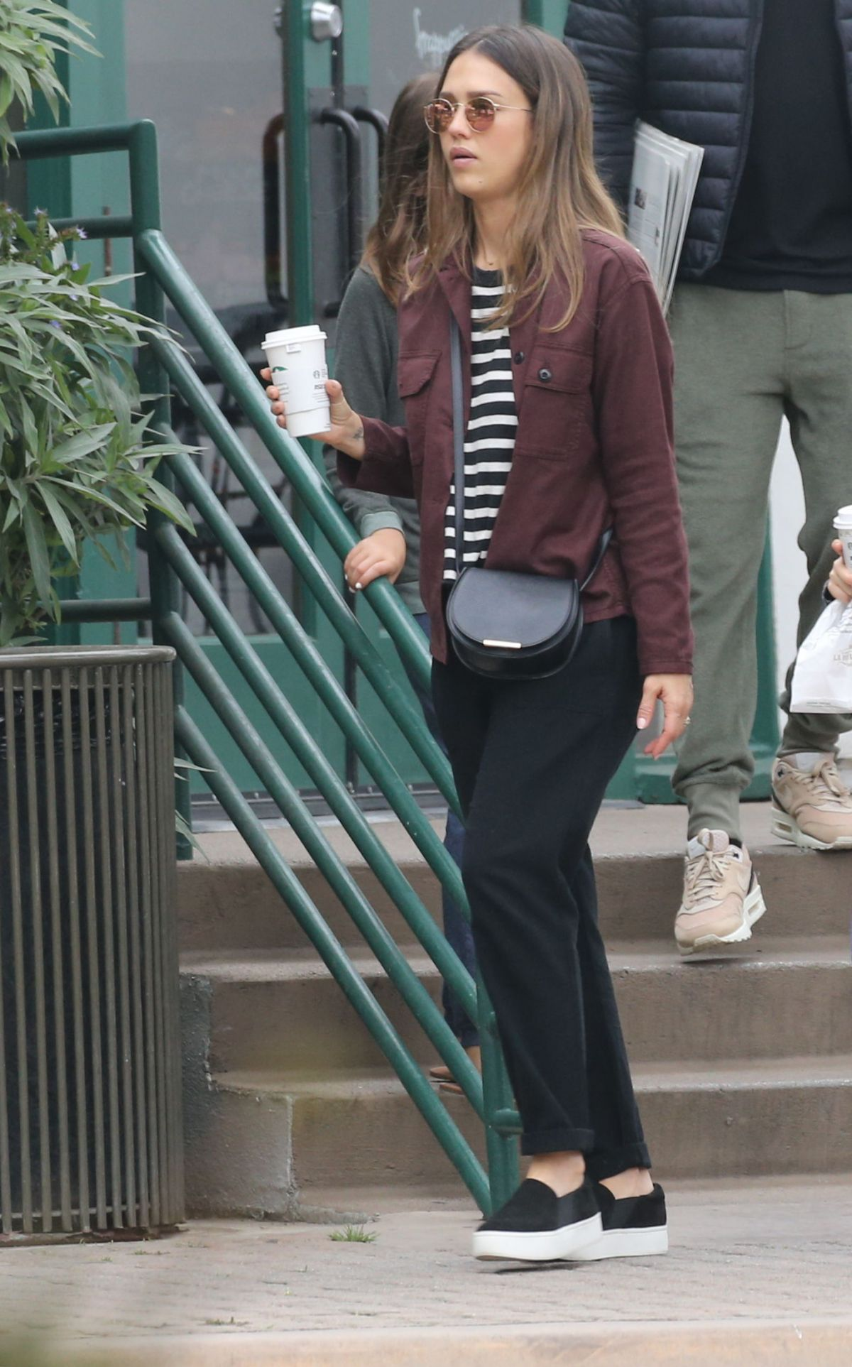 JESSICA ALBA Out for Cofffee in Malibu 07/02/2017