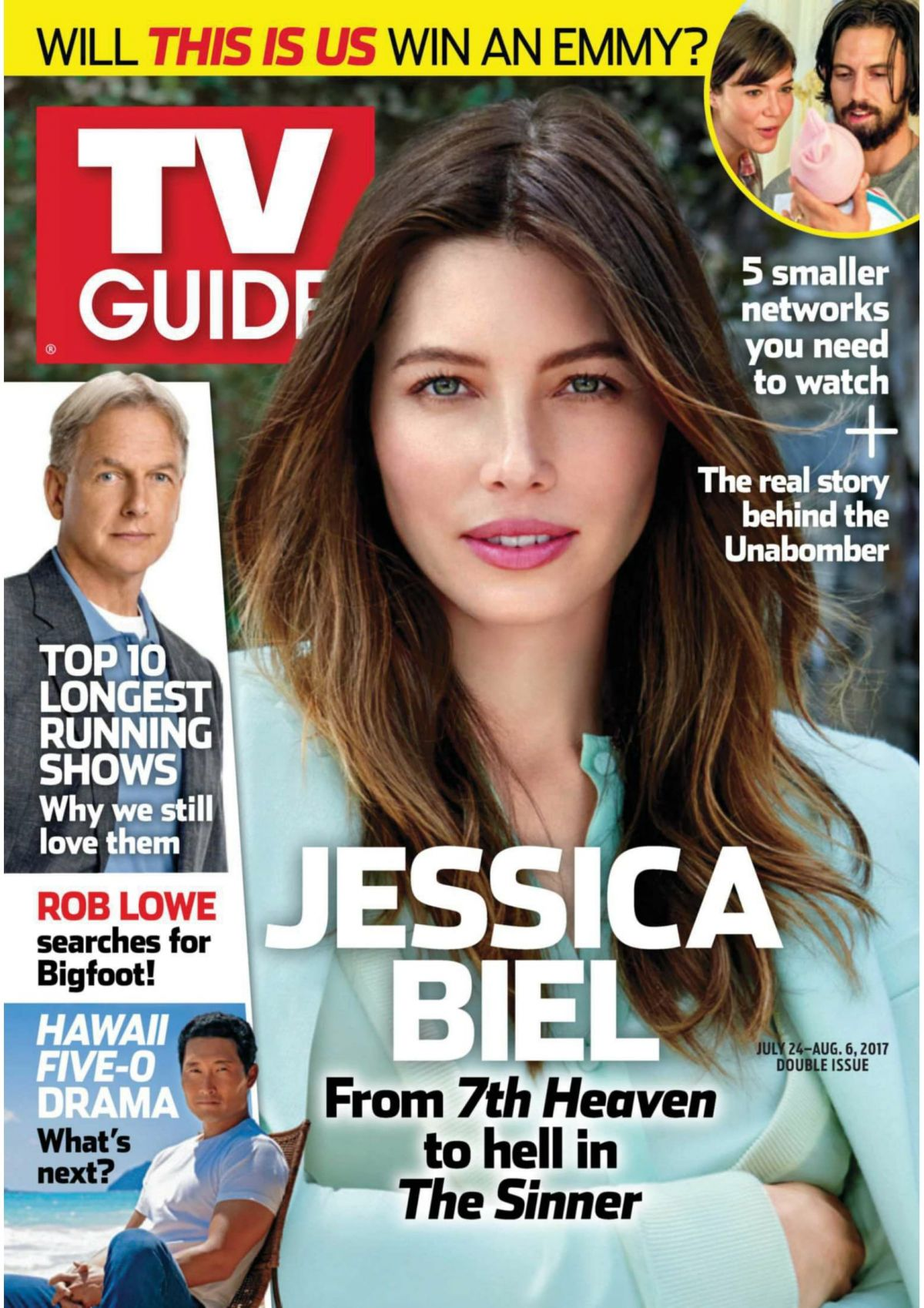 JESSICA BIEL in TV Guide Magazine, July 2017
