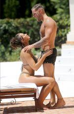 JESSICA SHEARS in Bikini and Dom Lever at a Pool in Ibiza 07/19/2017