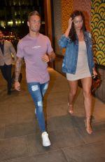 JESSICA SHEARS Leaves Tattu Restaurant and Bar in Manchester 07/06/2017