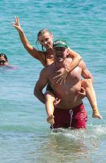 JOANNA KRUPA in Bikini on the Beach in Mykonos 07/19/2017