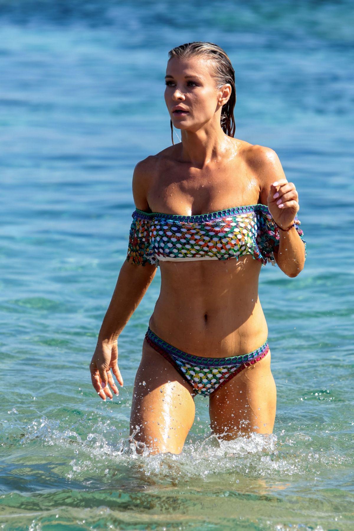 JOANNA KRUPA in Bikini on the Beach in Mykonos 07/20/2017