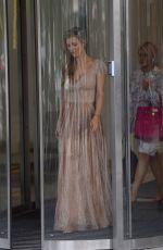 JOANNA KRUPA Leaves Good Morning TVN Studios in Warsaw 07/15/2017