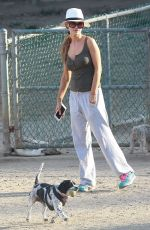 JOANNA KRUPA Out with Her Dog in Los Angeles 07/08/2017