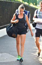 JOHANNA KONTA Arrives at Wimbledon Championships in London 07/10/2017