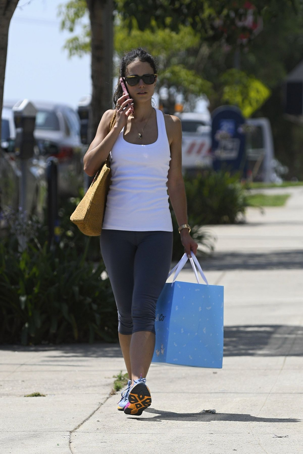 JORDANA BREWSTER in Leggings Out Shopping in Los Angeles 07/08/2017