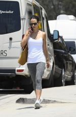 JORDANA BREWSTER in Tights Out in Los Angeles 07/11/2017