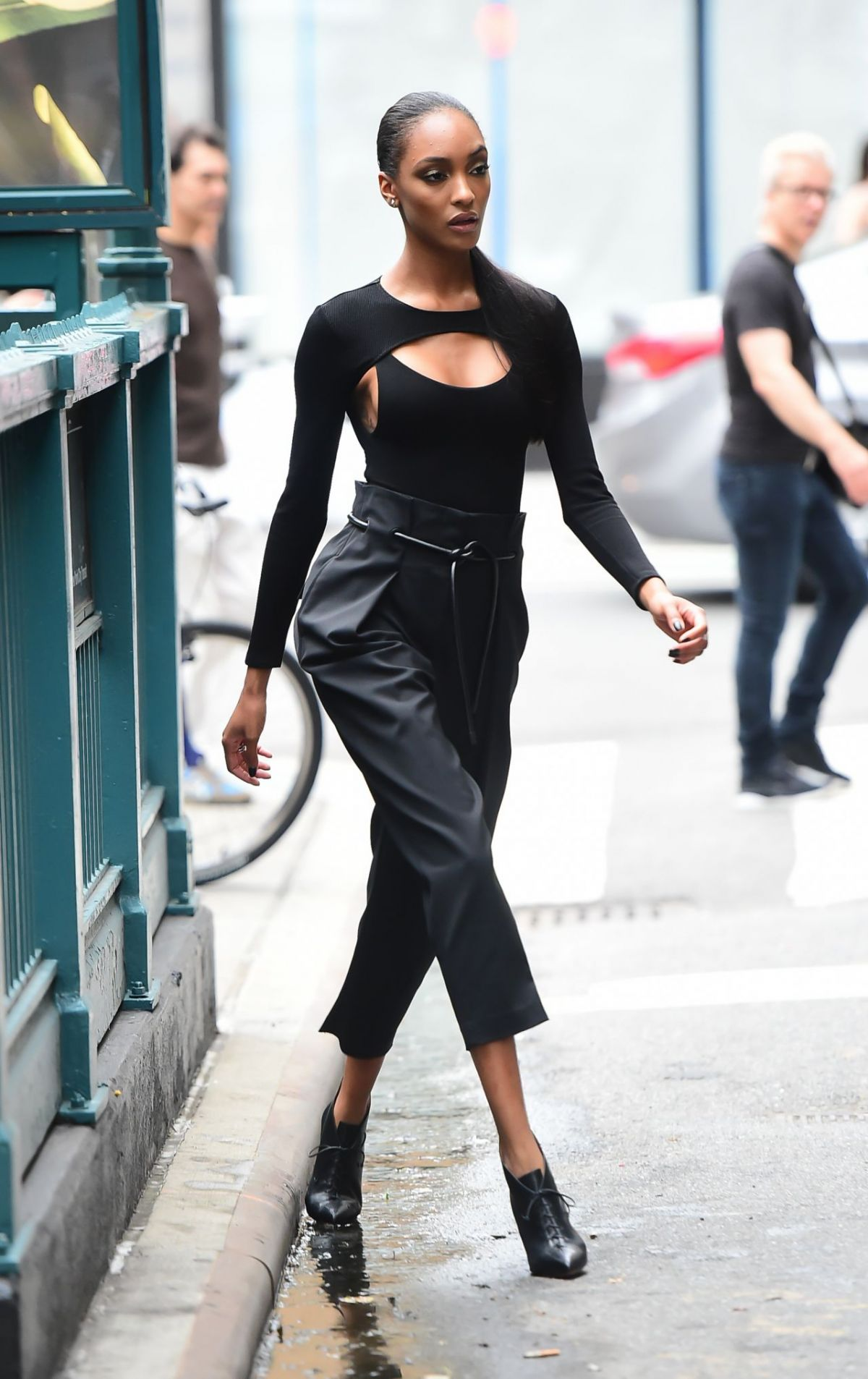 JOURDAN DUNN on the Set of a Photoshoot in New York 07/27/2017