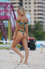 JOY CORRIGAN in Bikini on the Beach in Miami 07/18/2017
