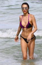JULIA and CARLA PEREIRA in Bikinis at a Beach in Miami 07/25/2017