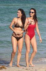 JULIA PEREIRA and DANIELA ALBUQUERQUE at a Beach in Miami 07/15/2017