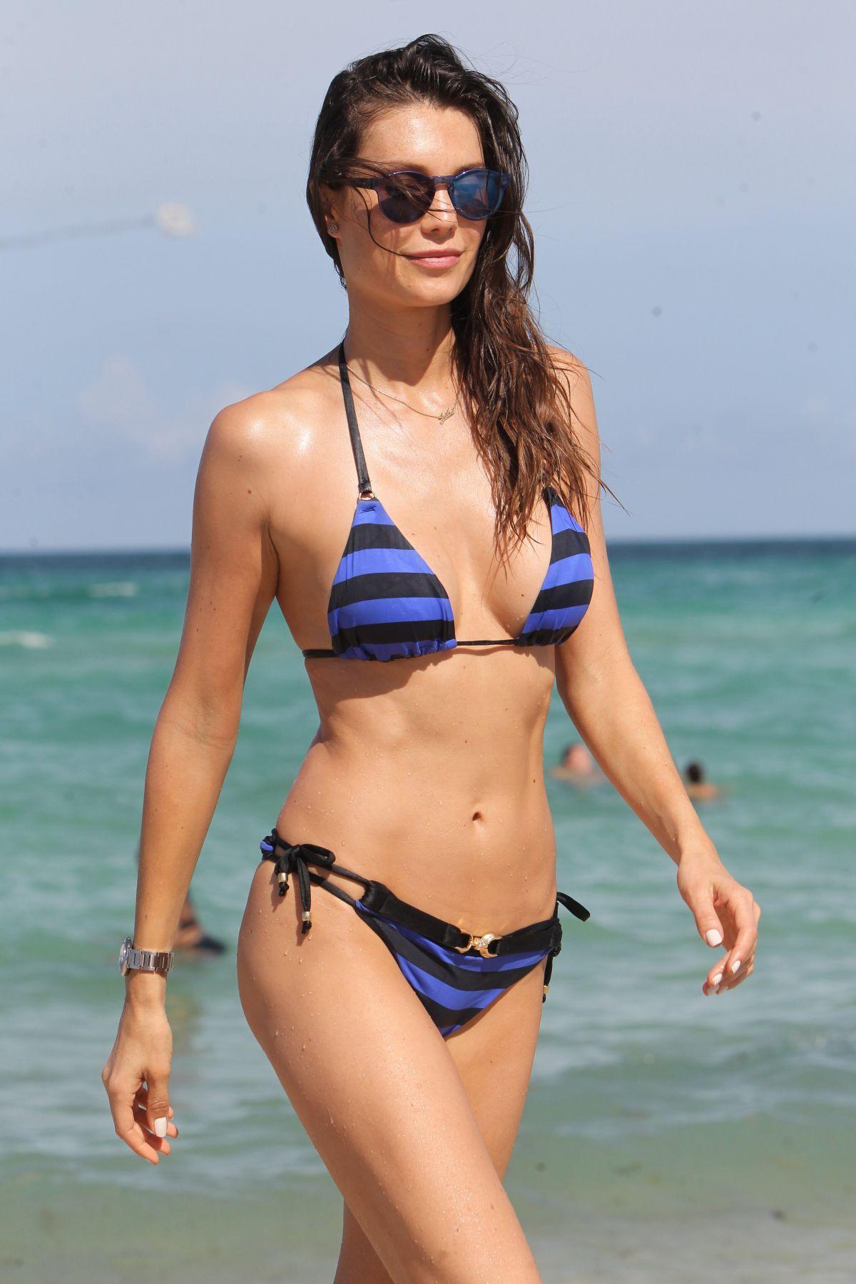 JULIA PEREIRA in Bikini at a Beach in Miami 07/15/2017