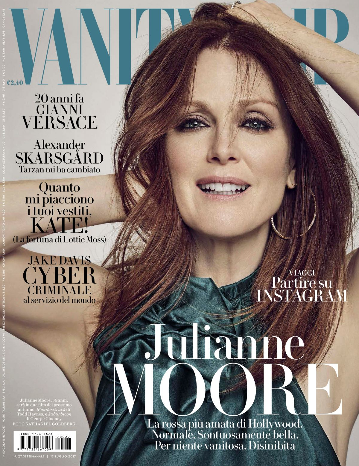 JULIANNE MOORE in Vanity Fair Magazine, Italy July 2017