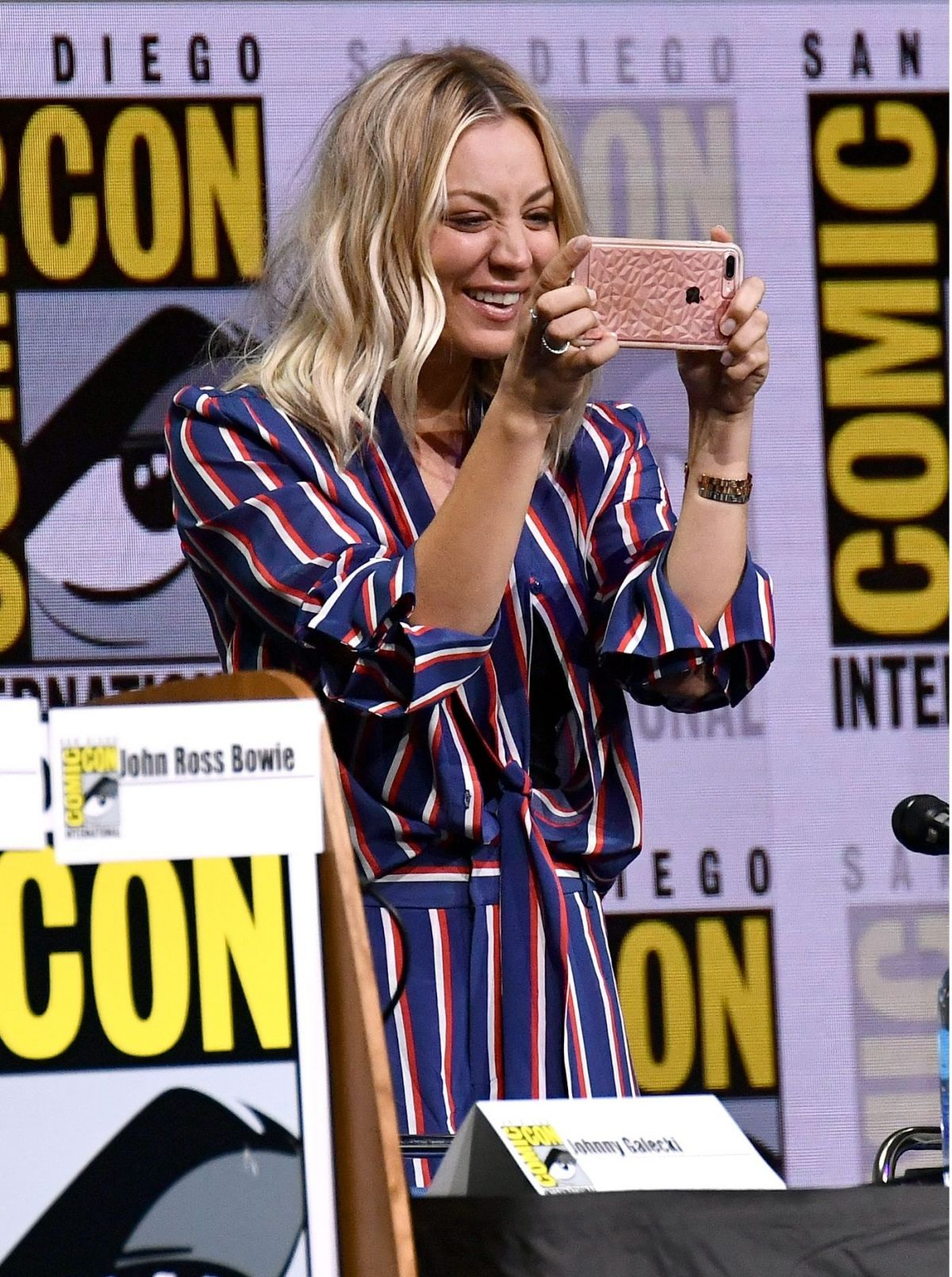 KALEY CUOCO at The Big Bang Theory Panel at Comic-con in San Diego 07/21/2017