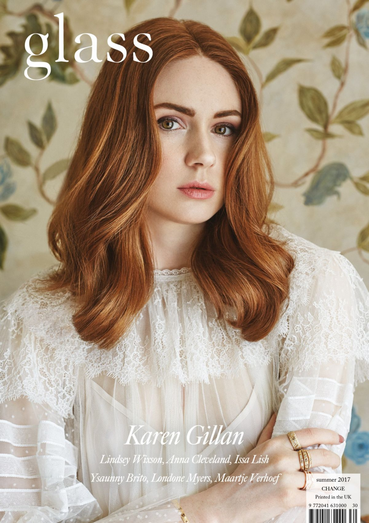 KAREN GILLAN in Glass Magazine, Summer 2017 Issue