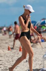 KARLIE KLOSS in Swimsuit at a Beach in Miami 07/18/2017