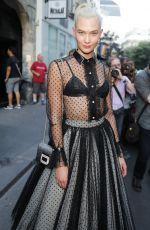 KARLIE KLOSS Leaves Azzedine Alaia Fashion Show in Paris 07/05/2017