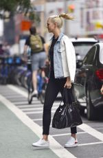 KARLIE KLOSS Out and About in New York 07/14/2017