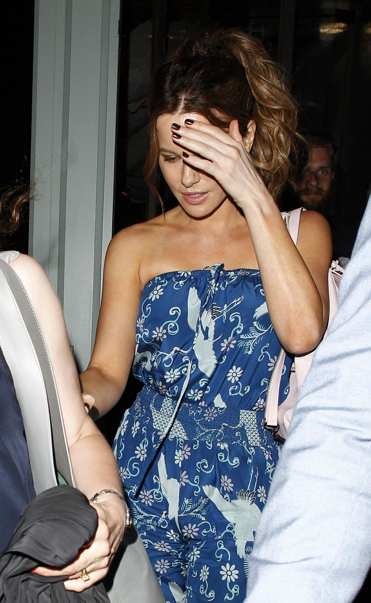 KATE BECKINSALE Leaves Sexy Fish Restaurant in London 07/06/2017