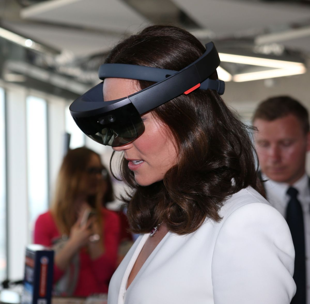 KATE MIDDLETON at a Tech Market Event for Polish Business in Warsaw 07/17/2017