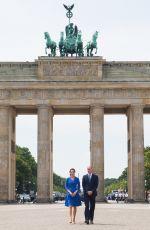 KATE MIDDLETON at Brandenburg Gate in Berlin 07/19/2017