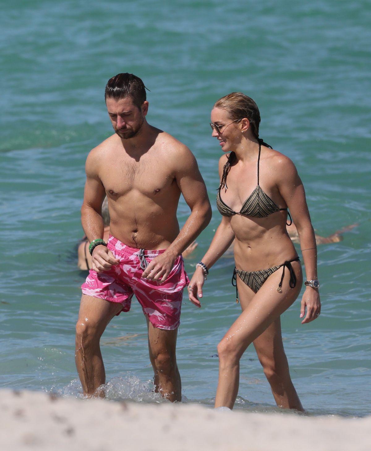 KATIE CASSIDY in Bikini on the Beach in Miami 07/01/2017