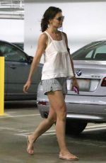 KATIE HOLMES at a Mall in Beverly Hills 06/28/2017