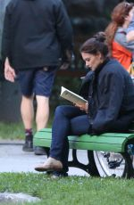 KATIE HOLMES on the Set of The Gift in Montreal 07/06/2017