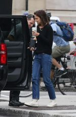 KATIE HOLMES Out and About in Montreal 06/30/2017