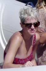 KATY PERRY at Grotta Azzurra in Capri 07/09/2017