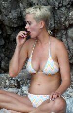 KATY PERRY in Bikini on the Beach in Amalfi 07/14/2017